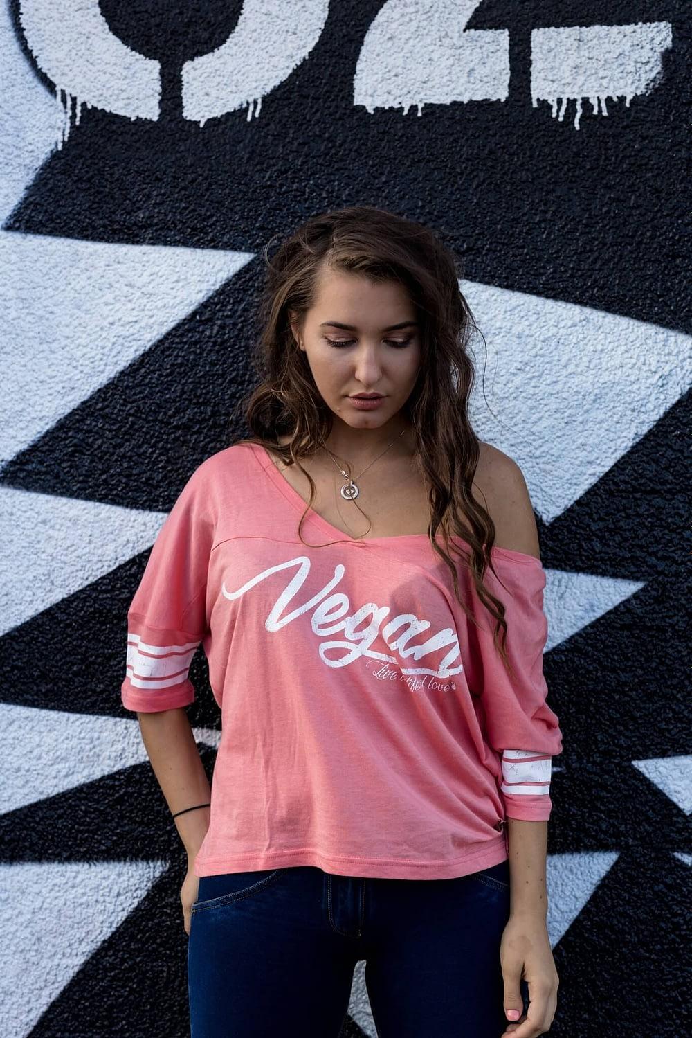 Women's Tshirt : Vegan Varsity