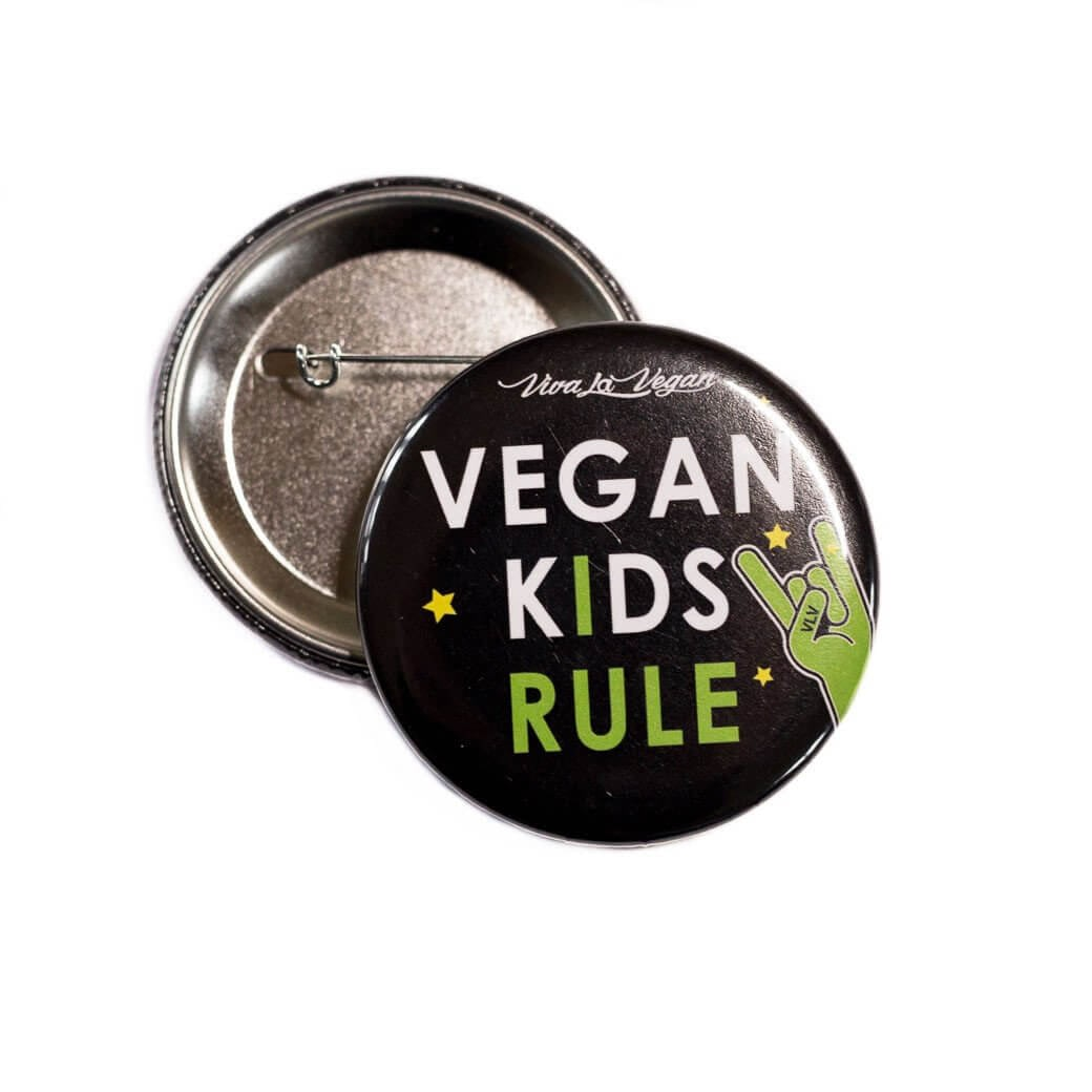 58mm Statement Badge: Vegan Kids Rule