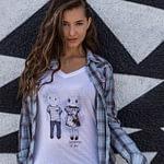 Women's Tshirt : Somebunny To Love White