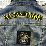 Embroidered Rocker Patch: Vegan Tribe LARGE