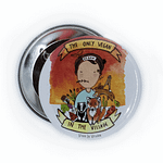 58mm Badge: Only Vegan In The Village