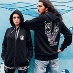 UNISEX Zip Through Hoodie : Vegans Rock