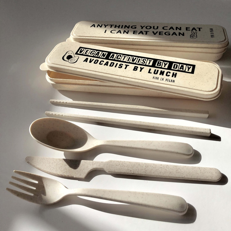 Reusable wheat cutlery set: Avocadist