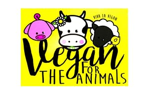 Window Cling - For The Animals 10 x 7 cm