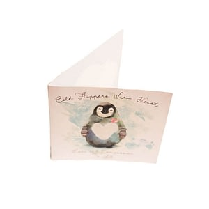 Christmas Greetings Card: Cold Flippers-Warm Heart