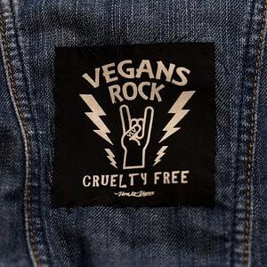 Printed Patch Square - Vegans Rock!
