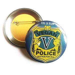 58mm Statement Badge: Vegan Police