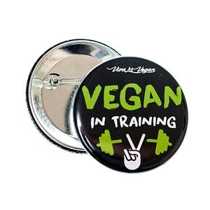 58mm Badge: Vegan in Training