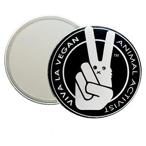Pocket Mirror : VLV Signature Logo. Animal Activist