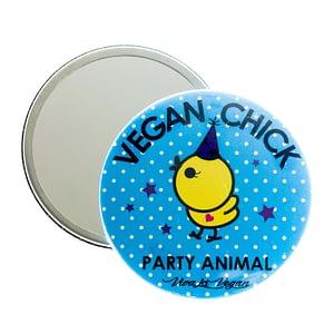 Pocket Mirror : Vegan Chick