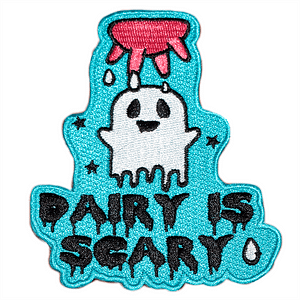 Embroidered Patch - Dairy is Scary ????