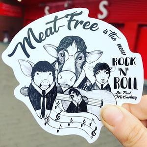 Vinyl Vegan Sticker - The New Rock n Roll