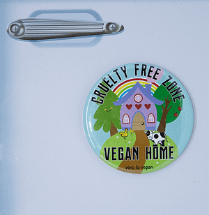 Fridge Magnet: Cruelty Free Zone - Vegan Home