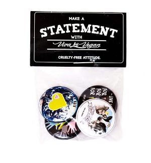 Badge Pack  x 4: Vegan For The...