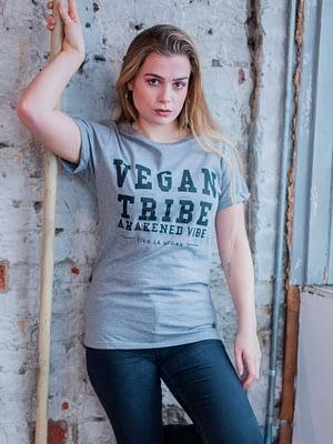 Unisex grey marl tshirt. Vegan Tribe By ecoc-ethical brand Viva La Vegan