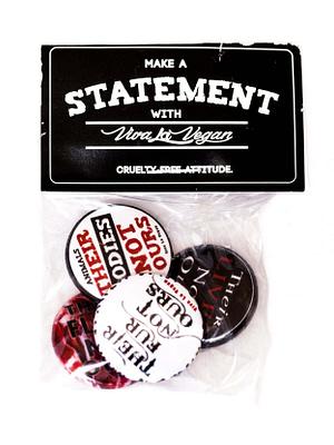 Badge Pack  x 4: Activist Chant
