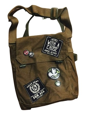 Reworked military bag. Ex army surplus by eco-ethical brand Viva La Vegan