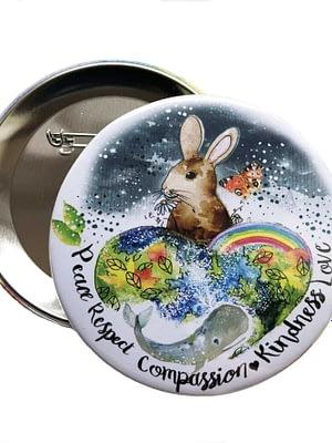76 mm Big Impact Badge: Global Compassion