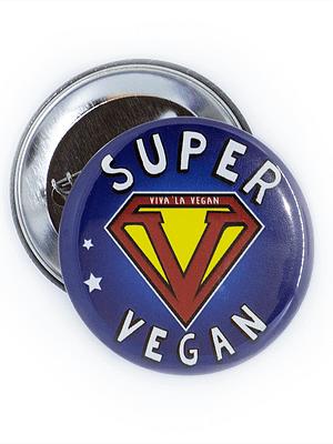 58mm Statement Badge: Super Vegan