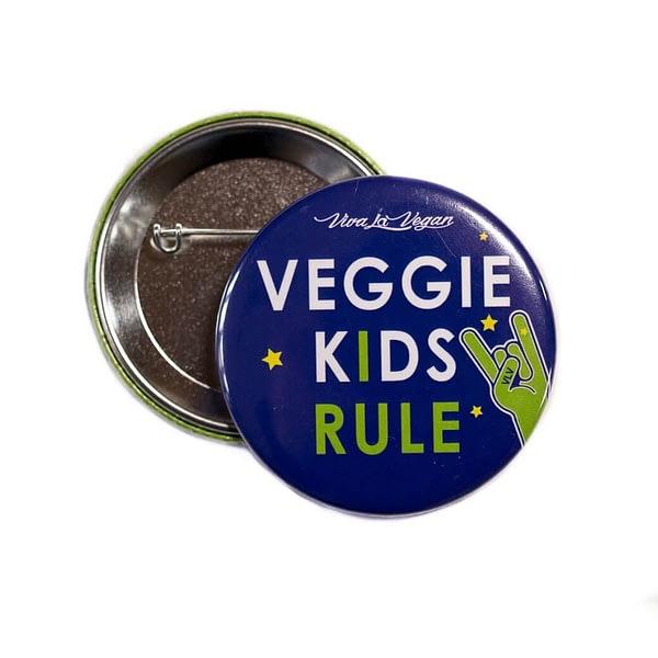 58mm Statement Badge: Veggie Kids Rule