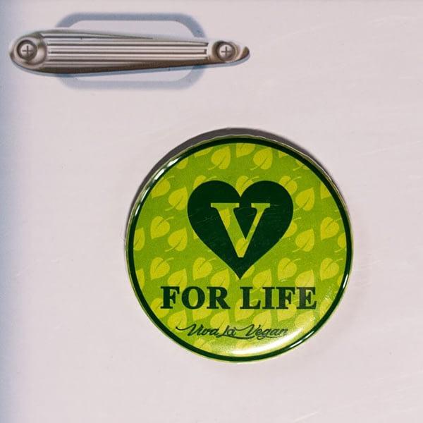 Fridge Magnet: V For Live