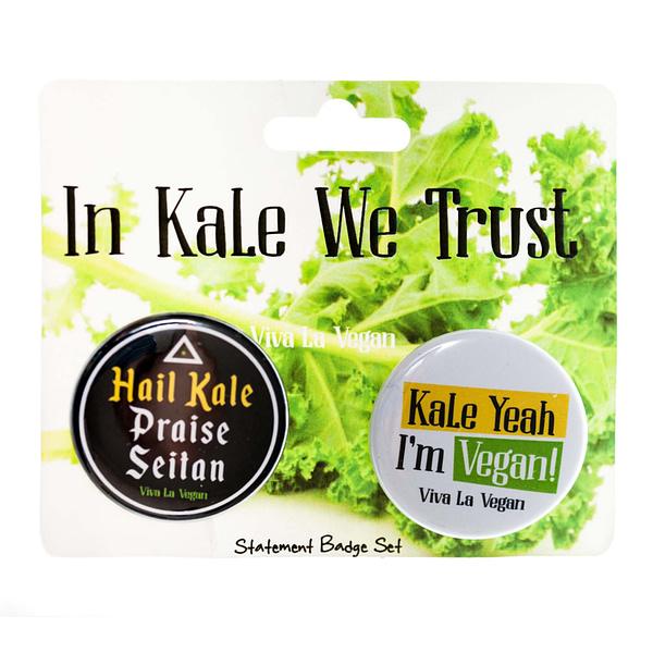 Badge Set x 2 Pack : In Kale We Trust