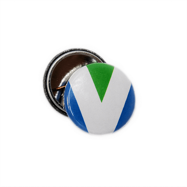 25mm Statement Badge: Vegan Flag