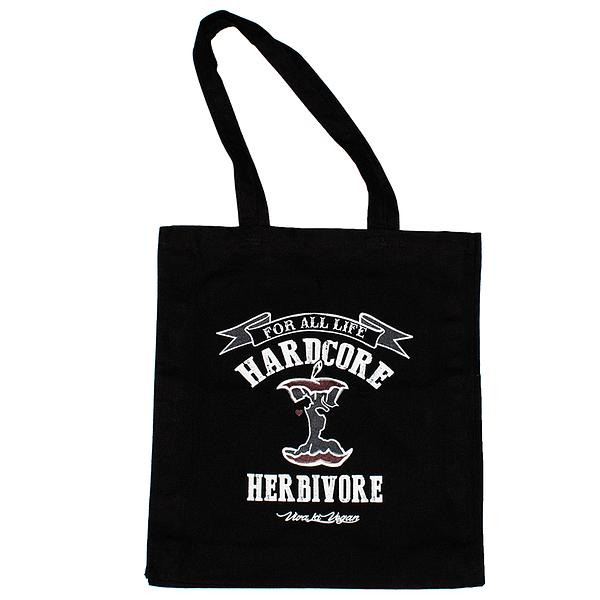 Hardcore Herbivore Black Organic Canvas Shopper