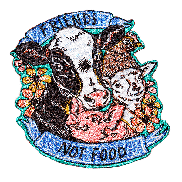 Embroidered Patch - Friends Not Food
