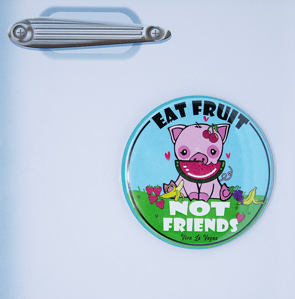 Fridge Magnet: Friends Not Fruit
