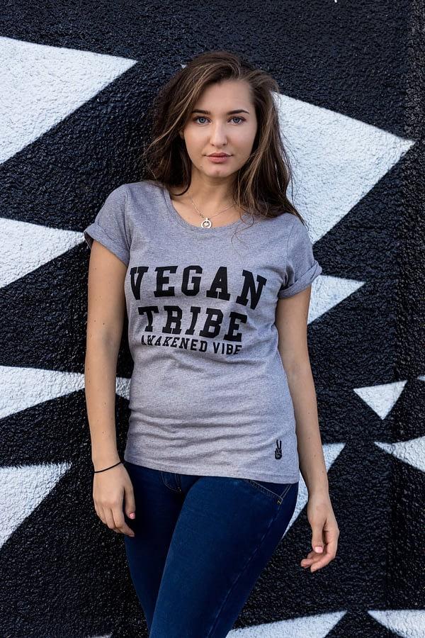 Women's Tshirt : Vegan Tribe - Awakened Vibe