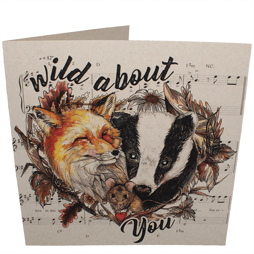 Greetings Card: Wild About You