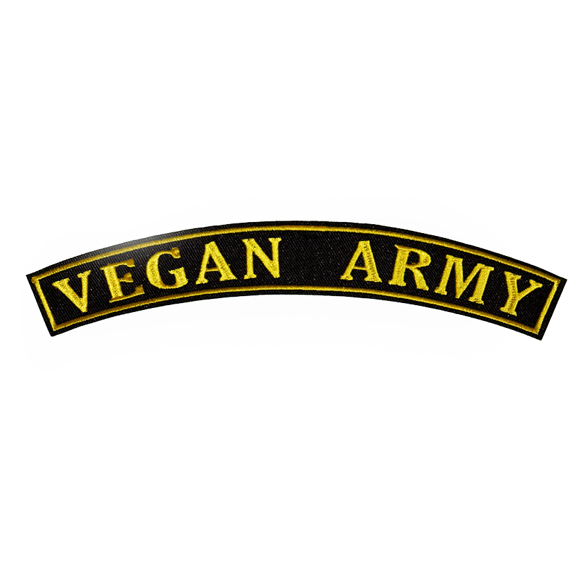 Embroidered Rocker Patch: Vegan Army